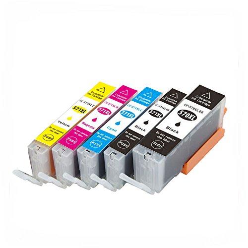 Oyat® Compatible 5 Canon Pixma pgi-570 XL/cli-571 XL Tintenpatronen ersetzt MG5750, MG5751, MG5752, MG5753, mg6850, mg6851, mg6852, mg6853 Drucker Tinten