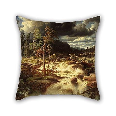 45,7x 45,7cm/45, 45cm de peinture à l'huile Marcus Larson–Cascade en Smã ¥ Land Couvre-lit Taie d'oreiller, 2Côtés s'adapte pour siège auto, une salle de dessin, enfants filles, Divan, GF, assise