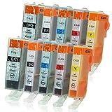 10 Druckerpatronen mit Chip und Füllstandsanzeige kompatibel zu Canon PGI-525/CLI-526 für Pixma IP-4850 IP-4950 IX-6550 MG-5140 MG-5150 MG-5240 MG-5250 MG-5300 MG-5340 MG-5350 MX-715 MX-885 MX-895