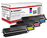 4 x kompatibler Toner für Brother TN-326 für MFC-L8600CDW / MFC-L8650CDW / MFC-L8850CDW / DCP-L8400CDN / DCP-L8450CDW / HL-L8250CDN / HL-L8350CDW / HL-L8350CDWT