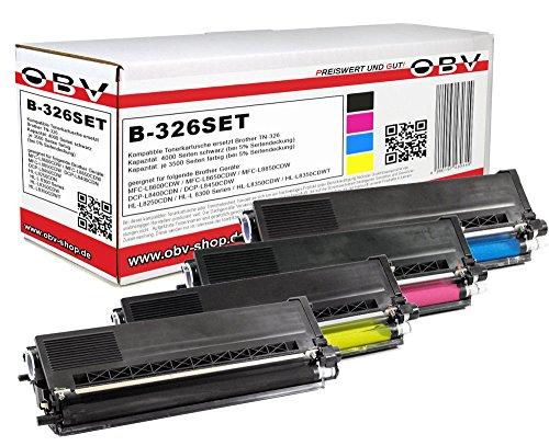 4 x kompatibler Toner für Brother TN-326 für MFC-L8600CDW / MFC-L8650CDW / MFC-L8850CDW / DCP-L8400CDN / DCP-L8450CDW / HL-L8250CDN / HL-L8350CDW / HL-L8350CDWT (Brother Toner-l8600cdw)