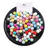 15mm Perlas de silicona flojo redondo Orgánica joyería de enfermería para la dentición del bebé de las bolas collar DIY Mordedor (50pcs) de la categoría alimenticia sensorial infantil
