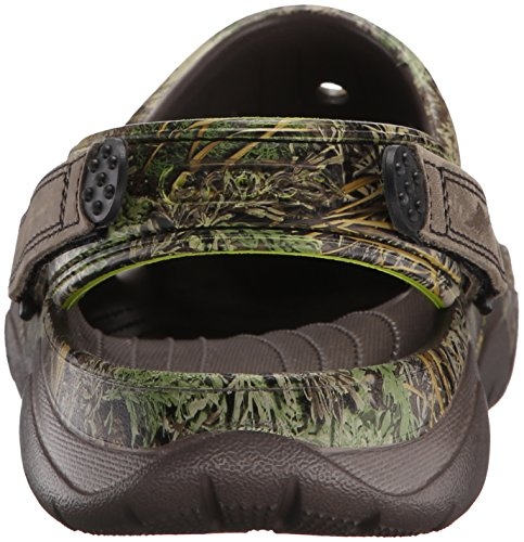 Crocs Mens Swiftwater Realtree Max-1 Clog Mule Pewter/Volt Green