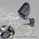 Verrouillage De Frein À Disque avec Alarme - Alarme De Motocyclette en Alliage D'aluminium avec Verrouillage Anti-vol avec Alarme Sonore 110dB Câble De Rappel De Rappel 5ft