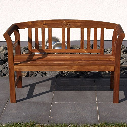 Gartenbank 2-Sitzer 123x45x83cm Holz Akazie FSC-zertifiziert - 2