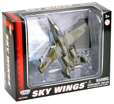 Richmond Toys, Sky Wings, Flugzeug Northrop Grumman A-10AThunderbolt, Spritzgußmodell mit authentischen Details, 1:100Maßstab von Richmond Toys