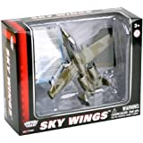 Richmond Toys 1:100 Scale Sky Wings Modern Northrop Grumman A-10A Thunderbolt Aircraft Die-Cast Model with Authentic Details