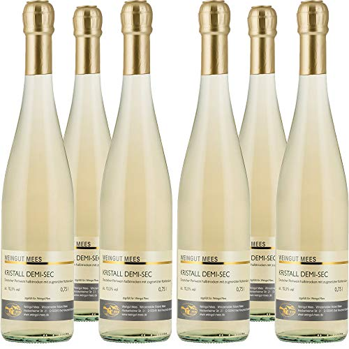 Weingut Mees Kristall Demi Sec | Secco | Halbtrocken | Deutschland | Sekt | Wein | Paket (6 x 750 ml)