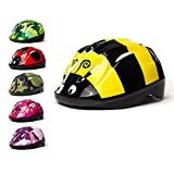 3Style Scooters® - Kids Cycle Helmet in Bumblebee Design - For Cycling, Skating, Scooting - Adjustable Headband - For Head Sizes 48cm - 50cm - Suitable For Kids Aged 3, 4, 5 & 6 Years