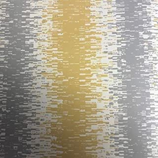 A-Street Prints Quake Abstract Stripe Wallpaper, Yellow, 20.5-Inch x 33 ft