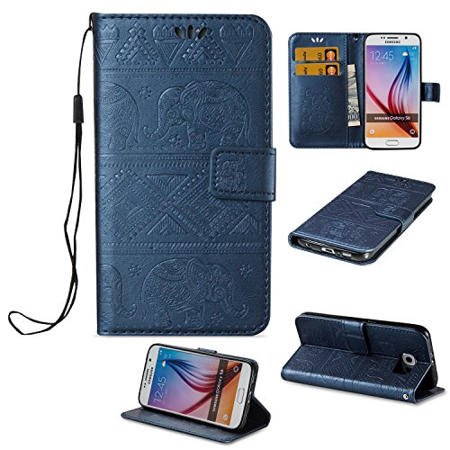 funda-samsung-galaxy-s6-case-ecoway-los-elefantes-patron-en-relieve-pu-leather-cuero-suave-cover-con