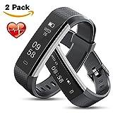 MEBUYZ 2 Fitness Armband Fitness Tracker, Aktivitätstracker mit Schrittzähler, Schlafüberwachung, Pulsmesser, Kalorienzähler, Vibrationsalarm für iPhone/Android