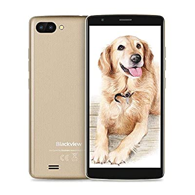 Blackview A20 SIM Free Smartphones,Android GO 5.5 Inch HD IPS Display,5 MP Dual Camera,3000mAh Battery,8GB ROM Dual SIM Cell Phone Unlocked,Bluetooth,GPS,FM,Gesture,UK version Smartphone