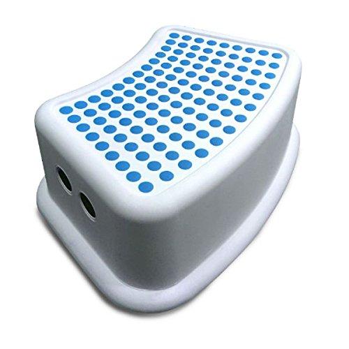 Addis Kinder Badezimmer Booster Schritt Hocker, weiß/blau, 24x 36,5x 13cm - Chrom Solide Basis