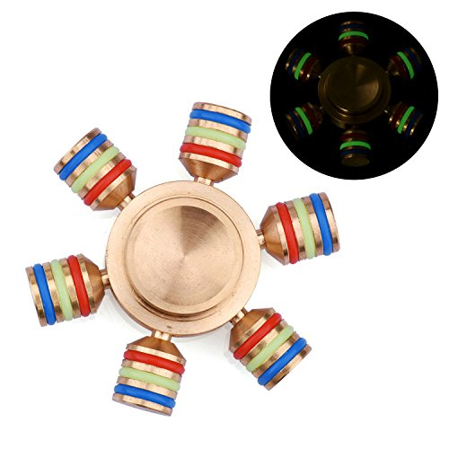 Fidget Spinner Stress Reducer Hand Spinner Toys Perfect For ADD ADHD Anxiety and Autism Adult Kids (Golden)