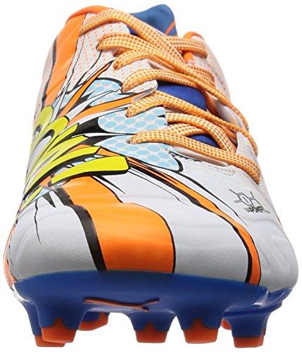 Puma Evopower 1.2 Pop Fg, Chaussures de football homme Blanc - Weiß (white-orange clown fish-electric blue lemonade 01)