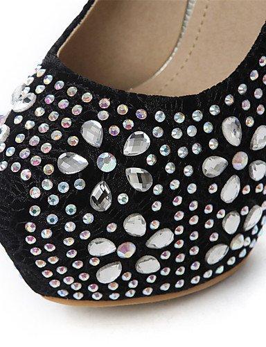 WSS 2016 Chaussures Femme-Mariage / Habillé / Décontracté / Soirée & Evénement-Noir / Rouge / Amande-Talon Aiguille-Talons-Talons-Paillette red-us6.5-7 / eu37 / uk4.5-5 / cn37