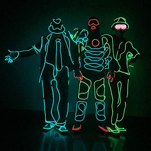 WSXX MJ Jazz Fluorescent Dance EL Kaltlicht Beleuchtung Kleidung LED Bühne Leistung Beleuchtung Requisiten Halbzeuge (ohne Kleidung) (Luminous Dance Kostüm)