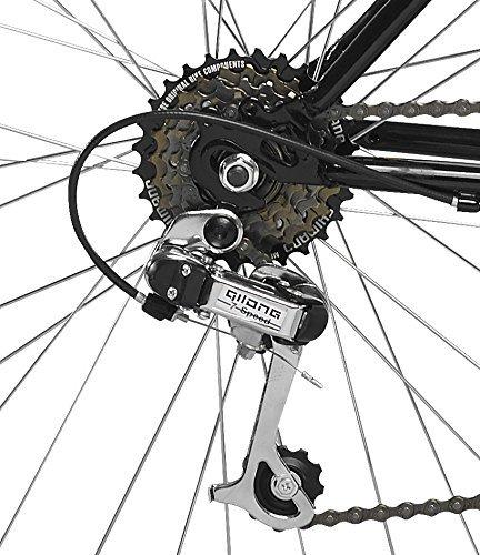 """Orbita ALFA 24"""" - Bicicleta BTT de montaña para niño, 18 velocidades, cuadro 14'' acero, frenos V-Brake, blanco, (9 - 12 años)"""