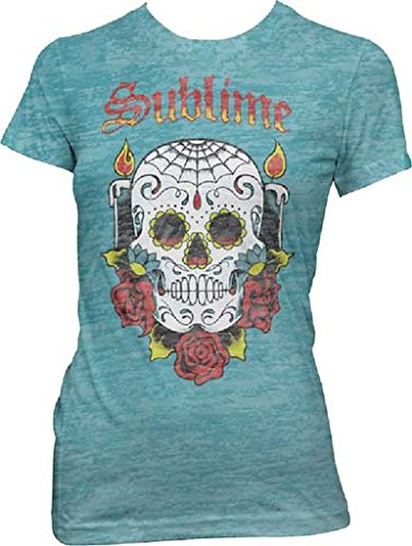Sublime Skull Junior Women's Burnout T-Shirt