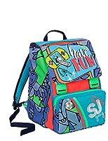 ea89d7b64e Zaino scuola sdoppiabile SJ GANG - BOY - Blu Azzurro Rosso - FLIP SYSTEM -  28 LT elementari e medie 3 pattine sfogliabili