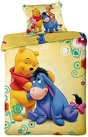 Jerry Fabrics JF0111WTP 2015, 1x Quilt Cover & Pillow Case Bed Linen Set, 100% Cotton 140x 200/70x 90cm yellow