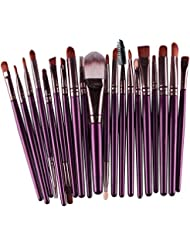 Demarkt 15 piezas Brocha Para Maquillaje Set de herramientas Base Polvo Kit Lana