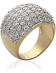 ISADY - Erna Gold - Bague Femme - Plaqué Or 750/000 (18 carats) - Oxyde de zirconium transparent
