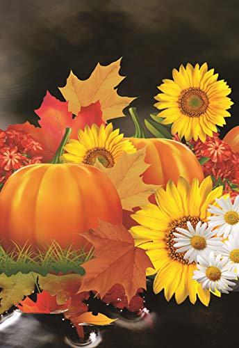 Fall Garden Flagge Blatt Kürbis Halloween Türkei 12,5x 18Herbst Zwei-seitige Yard Dekoration 12.5 x 18 11