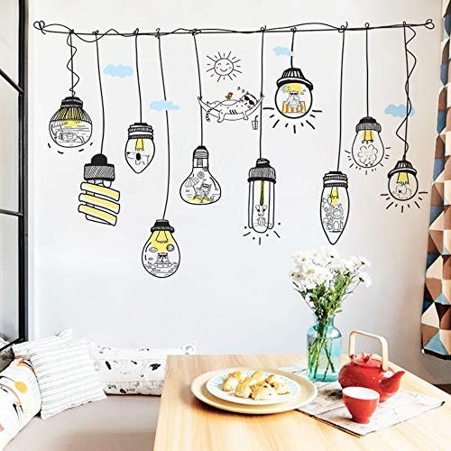 Wandaufkleber Schlafsaal kreative Schlafzimmer einfache niedlichen Tier Kronleuchter abnehmbar -