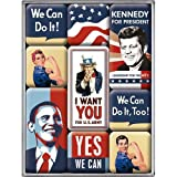 Nostalgic-Art 83039 USA - United States of America, Magnet-Set (9teilig)