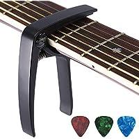Asmuse™ Kapodaster Trigger Capo für Gitarre Akustische Elektrische Konzertgitarre Klassische Westerngitarre Bass Instrument-Schwarz