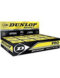 Dunlop Pro Squashball double yellow dot 3 balls tube