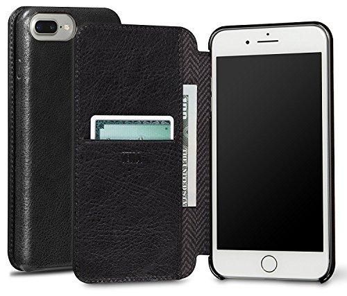 Sena Ultra Thin Wallet Book Schutzhülle für Apple iPhone 7Plus–cognac-parent schwarz
