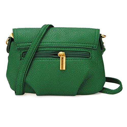 OURBAG Casual, dicono le donne s, motivo: Twist-Lock-Borsa a tracolla, verde (Verde) - OURBAG UdAkwiFnA verde