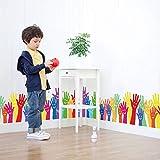 YANCONG Wandaufkleber L Cartoon Palm Baseboard Baby Zimmer für Kinderzimmer