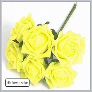 4 mazzi giallo in schiuma colorata Champion-Coccarda bouquet di rose