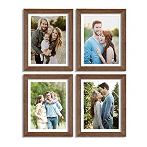 Art Street Synthetic Wood Wall Photo Frame (8x10 inch, Brown)