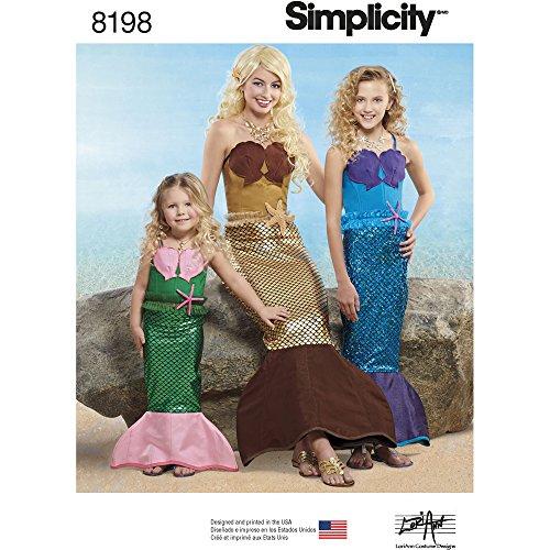 ster 8198Kindes, Mädchen und 'Meerjungfrau Kostüme, weiß (Miss Usa Kostüm Für Kinder)