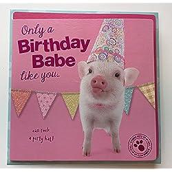 Tarjeta de cumpleaños para mascotas Studio Babe