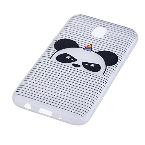 Coque Galaxy J5 2017, étui Galaxy J5 2017, ISAKEN Coque pour Samsung Galaxy J5 2017 - étui Housse Téléphone le soulagement étui TPU Silicone Souple Coque Ultra Mince Gel Doux Housse Motif Arrière Case Panda