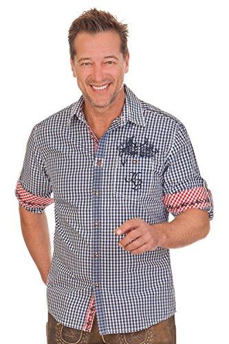 Trachtenhemd mit Langem Arm - Oliver - Grün, Blau, Größe XXL