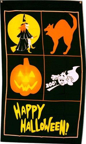 Fahne / Flagge Happy Halloween 4 + gratis Sticker, Flaggenfritze®
