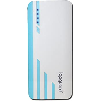 Lapguard 10000 mah Power Bank For Mobile , mi , Lenovo , Intex , Xiaomi , All mobiles , Tablets (White-Blue)