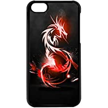 Coque Iphone 5C - Dragon chinois rouge eclatant - Ref 168