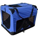 Transportín de tela plegable - Caseta de perros portátil - Transportín plegable para perros - Transporta mascotas para coches - Corralito para mascotas - Bolsa de transporte 601-D01