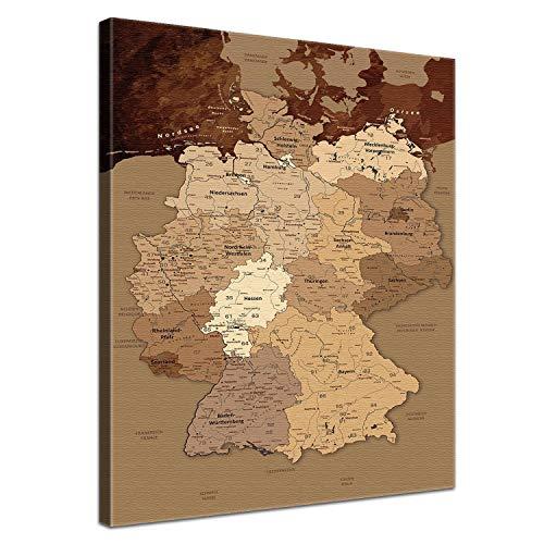 Die Schweiz-antiken-karte (LANA KK Deutschlandkarte Leinwandbild Deutsch Kunstdruck Pinnwand auf Echtholz, antik, 40 x 60 cm)