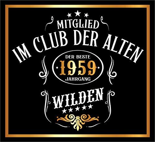 RAHMENLOS 3 St. Aufkleber Original Design: Selbstklebendes Flaschen-Etikett zum 60. Geburtstag: Mitglied im Club der Alten Wilden (Ideen Geburtstag 60 Design)