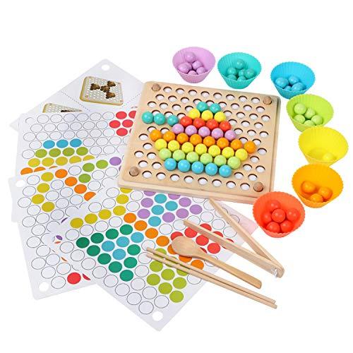 Juguetes de Madera NiñOs, Motricidad Fina, Tablero Montessori, Puzzles Infantiles Años, Juguete Educativo...