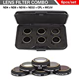 6 Packs for DJI Mavic Pro Lens Filter Kit ND4 ND8 ND16 ND32 MCUV CPL, Multi-coated Filter Set TIME4DEALS.
